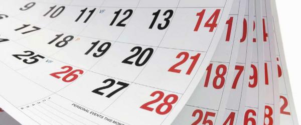 Calendario fiscal 2017, segundo semestre